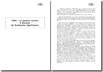 1909, poème extrait du recueil Alcools de Guillaume Apollinaire