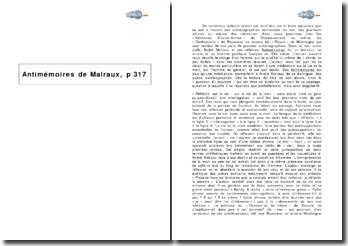 Antimémoires de Malraux, p 317