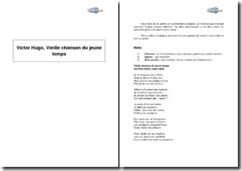 Victor Hugo, Vieille chanson du jeune temps