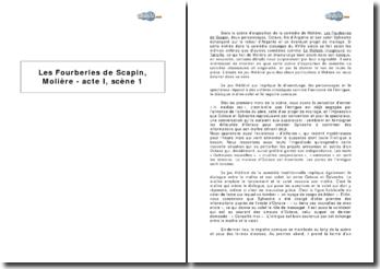 Les Fourberies de Scapin, Molière - acte I, scène 1