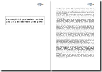 La complicité punissable dans le happy slapping : article 222-33-3 du nouveau Code pénal