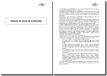 Histoire du rhum de la Réunion