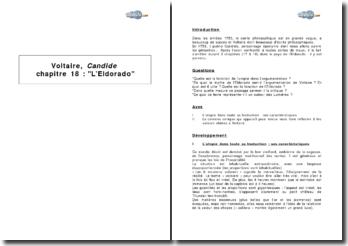 Voltaire, Candide : chapitre 18, L'Eldorado