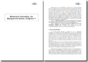 Moderato Cantabile, de Marguerite Duras, chapitre 7