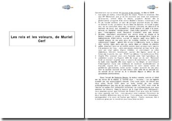 Extrait du romain autobiographique Les rois et les voleurs, de Muriel Cerf