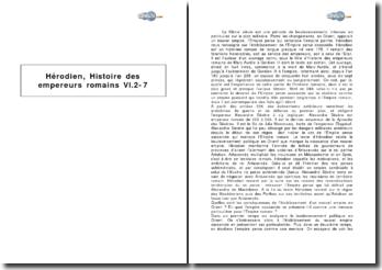 Hérodien, Histoire des empereurs romains, VI. 2-7 - la naissance de l'Empire perse sassanide