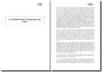 La Constitution française de 1791