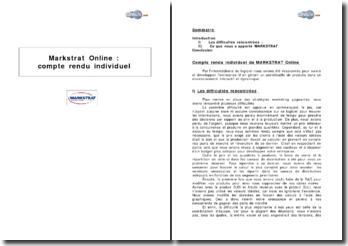 Gestion d'un portefeuille de produits grâce au logiciel Markstrat Online