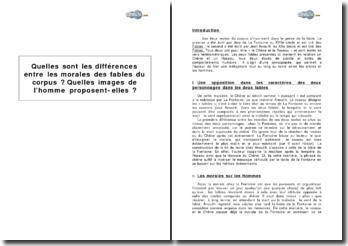 Quelles sont les différences entre les morales des fables Le Chêne et le roseau de Jean de La Fontaine et Jean Anouilh ? Quelles images de l'homme proposent-elles ?