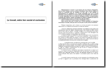 Le travail, entre lien social et exclusion