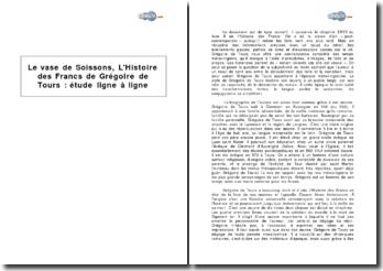 Chapitre XXVII du livre II de L'Histoire des Francs, de Grégoire de Tours: Le vase de Soissons