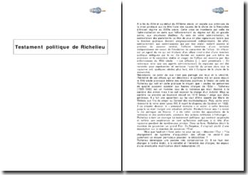 Testament politique de Richelieu