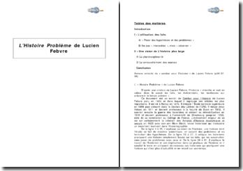 L'Histoire Problème de Lucien Febvre