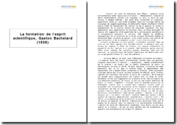 Extrait de La formation de l'esprit scientifique, Gaston Bachelard (1938)