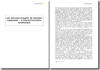 Les microsociologies de Georges Lapassade : l'interactionnisme symbolique