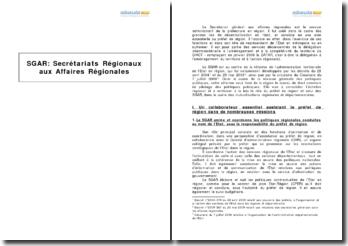 Secrétariats Régionaux aux Affaires Régionales (SGAR)