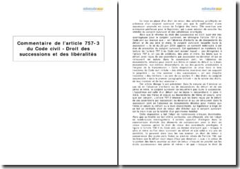 Article 757-3 du Code civil - Droit des successions et des libéralités