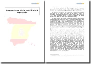 Extrait de la constitution espagnole : responsabilité du gouvernement et collaboration des pouvoirs