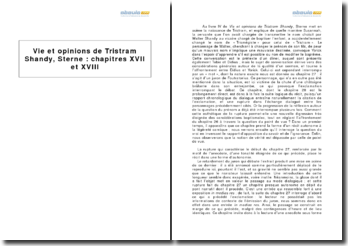 Vie et opinions de Tristram Shandy, Sterne : chapitres XVII et XVIII