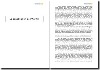 La constitution de l'An VIII