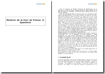 Relation de la Cour de France, Ezéchiel Spanheim
