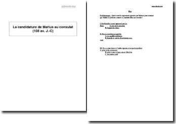 La candidature de Marius au consulat (108 av. J.-C)