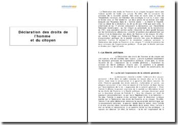 L'article 6 de la Déclaration des droits de l'homme et du citoyen : liberté politique et égalité civile