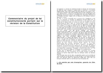 Projet de loi constitutionnelle portant sur la révision de la Constitution (1993)