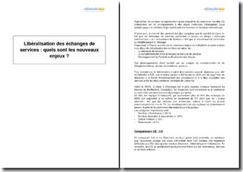 Réflexion : Libéralisation des échanges de services : quels sont les nouveaux enjeux ? (2009)