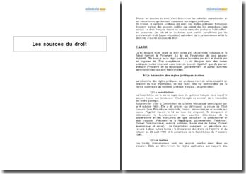 Le droit administratif et ses sources : la loi, la coutume, la jurisprudence et la doctrine