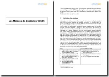Les marques de distributeur (MDD)