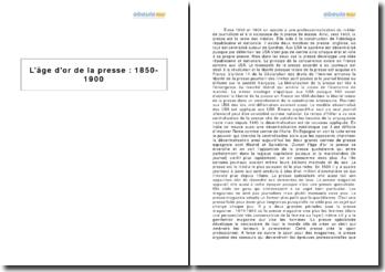L'âge d'or de la presse : 1850-1900