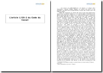 L'article L120-2 du Code du travail