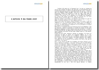 L'article 4 du Code civil - l'obligation légale de juger