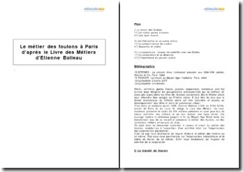 Le métier des foulons à Paris d'après le Livre des Métiers d'Etienne Boileau