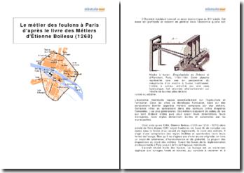 Le métier des foulons à Paris d'après le livre des Métiers d'Étienne Boileau (1268)