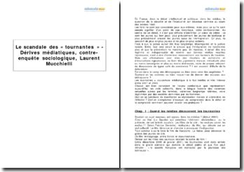 Le scandale des « tournantes » - Dérives médiatiques, contre-enquête sociologique, Laurent Mucchielli