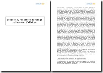 Léopold II, roi absolu du Congo et homme d'affaires, d'après un extrait de Pierre Mille