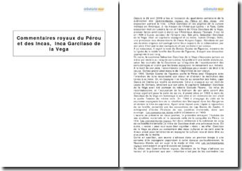 Commentaires royaux du Pérou et des Incas, Inca Garcilaso de la Vega