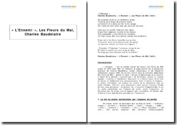 « L'Ennemi », Les Fleurs du Mal, Charles Baudelaire