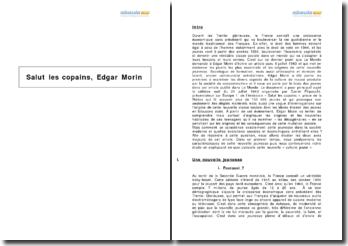 Salut les copains, Edgar Morin