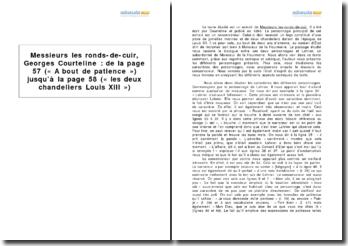 Messieurs les ronds-de-cuir, Georges Courteline : étude du passage : A bout de patience ... les deux chandeliers Louis XIII