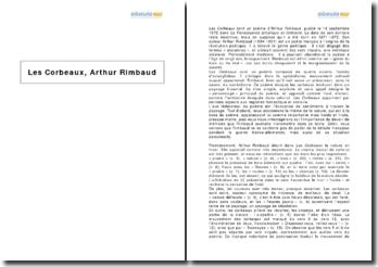 Les Corbeaux, Arthur Rimbaud