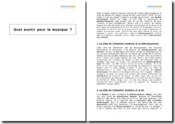 Quel avenir pour la musique en France (2009) ?