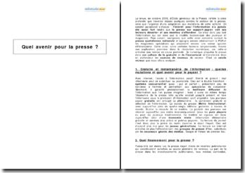 Quel avenir pour la presse en France (2009) ?