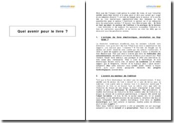 Quel avenir pour le livre en France (2009) ?