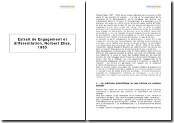 Extrait de Engagement et différentiation, Norbert Elias, 1983