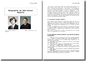 Biographie de John Glover Roberts
