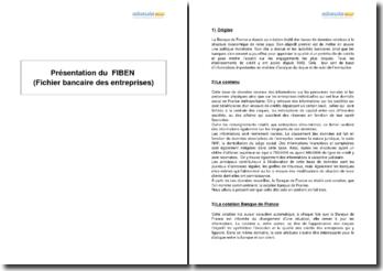 Présentation du FIBEN (fichier bancaire des entreprises)
