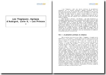 Les Tragiques, Agrippa d'Aubigné, livre II, « Les Princes »